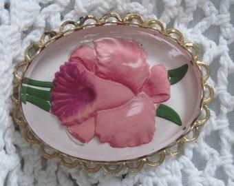 Vintage Orchid Brooch