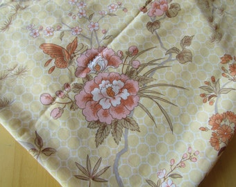 Peaches and Cream - Vintage Flat Bedsheet