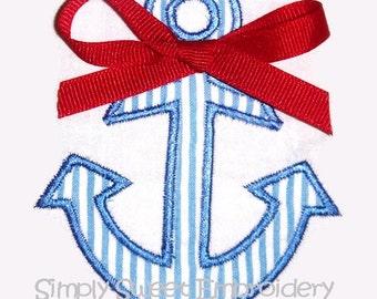 Anchor Machine Embroidery Applique Design