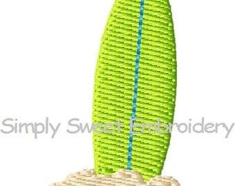 Surfboard Sand Mini Machine Embroidery Design
