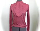 Vintage 70s Body Suit Blouse with Cravat Size Lg -on sale - maybel57