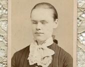 Victorian CDV Photograph- Sleeping Young Woman