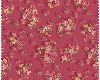 Grace Fabric Collection by Quilt Gate MR2140-14D Red Small Roses