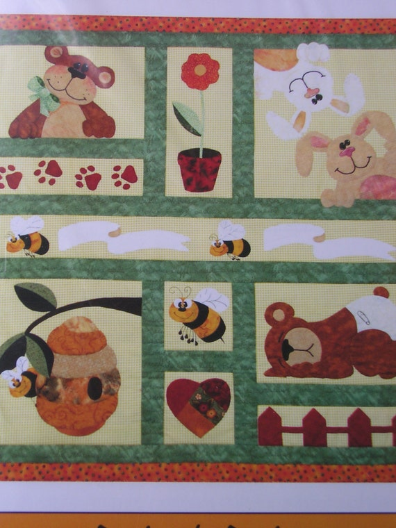Bees Bunnies And Bears Baby Child Quilt Pattern By
