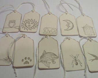 Hand Stamped Tags