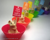 Little Cupcake Mouse Ornament Sculpture Mother's Day various colours