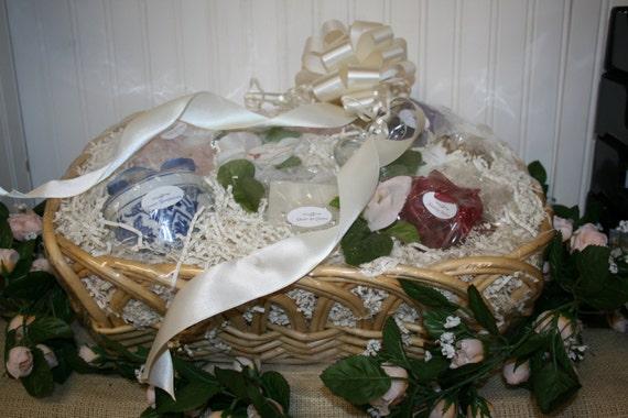 Bridal Candle Basket - Gift Basket with Candle Poem - Bridal Shower or ...