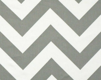 SALE - Premier Prints - Fabric Zippy Chevron in Storm and White Twill