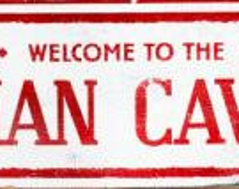 Welcome to the Man Cave Rustic Wooden Sign - 6x19