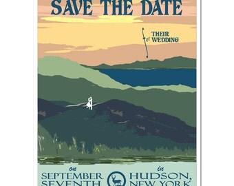 Vintage Adirondack Mountains Save the Date - SAMPLE