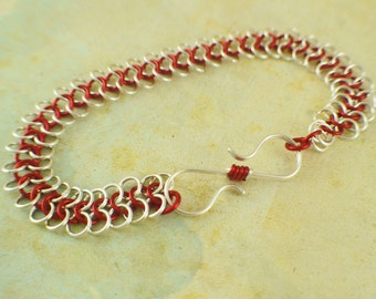 SALE European 4 - 1 Chainmaille Bracelet Kit - You Pick Color
