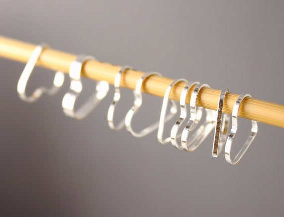 Simple Solid Snag-Free Heart Ring Stitch Markers for Knitting