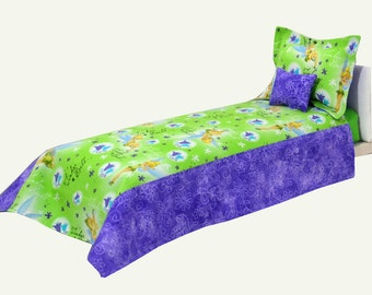 Tinkerbell 18 Inch Doll Bedding sets  American Girl Doll Bedding   MATTRESS and Custom Orders available