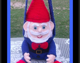 The Happy Gnome Purse Or Lunch Bag Crochet Pattern.This Is Not A Flat Purse.