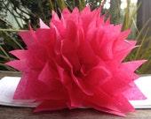 10 Boysenberry Paper Dahlias. Napking rings, eco weddings, fun dinner parties, baby showers, home decor. Tissue paper pom pom