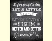 Before You Go to Sleep, Say a Little Prayer - Beautiful Boy Printable Quote by John Lennon - Custom Colors Available