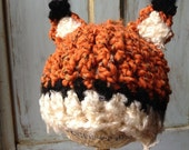 Fox Hat (Crochet Fox Hat with Ears)