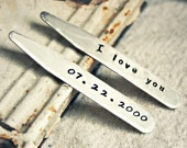 "Custom Collar Stays - Steel 2.5"" Collar Stays - Personalized Gift for Father's Day, Anniversary, Birthday, Graduation, Wedding and Groomsmen"