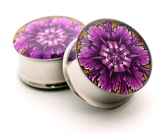 Filigree STYLE 3C Picture Plugs gauges - 16g, 14g, 12g, 10g, 8g, 6g, 4g, 2g, 0g, 00g, 7/16, 1/2, 9/16, 5/8, 3/4, 7/8, 1 inch