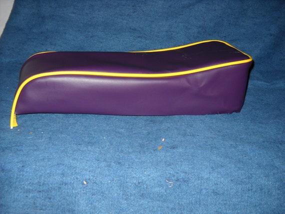 Mini Bike Seat Upholstery Plum Purple With Yellow By