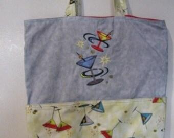 Retro Martini Tote Bag Shopping Bag Diaper Bag