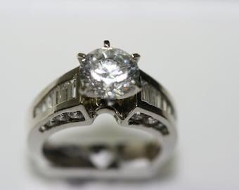 3.10ct TW Cubic Zirconia Engagement ring