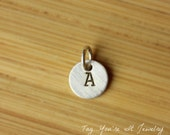 additional tiny sterling silver initial tag
