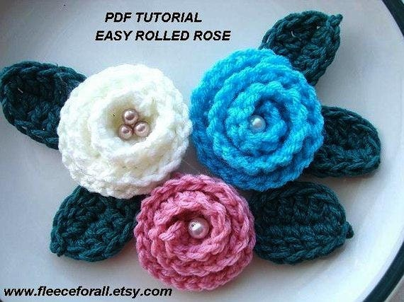 Free Crochet Rolled Flower Pattern ~ Dancox for .