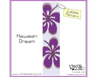 Bead Loom Bracelet Pattern: Hawaiian Dream - INSTANT DOWNLOAD pdf - Special savings with coupon codes - bl202