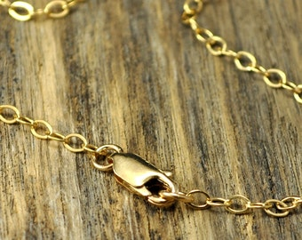 18 Inch 14k Gold Fill Necklace with 14k Gold Fill Lobster Clasp