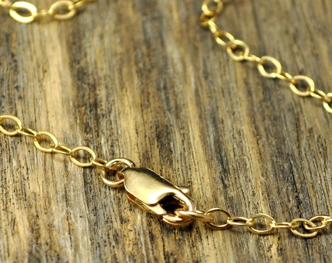 36 Inch 14k Gold Fill Necklace with 14k Gold Fill Lobster Clasp