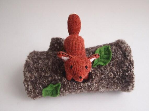 waldorf toy, toy fox, waldorf fox, all natural toy, eco friendly toy, eco friendly fox, red fox