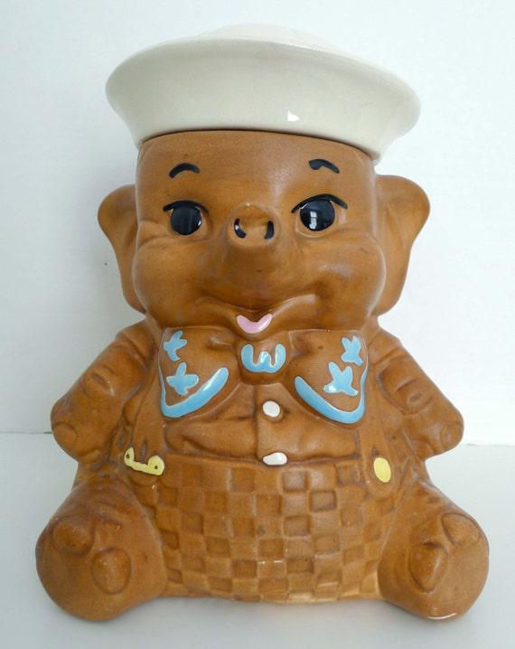 Vintage sailor elephant cookie jar - Vintage elephant cookie jar ...