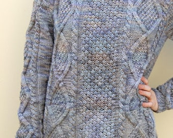 Diamond Cable Turtleneck Pullover Pattern