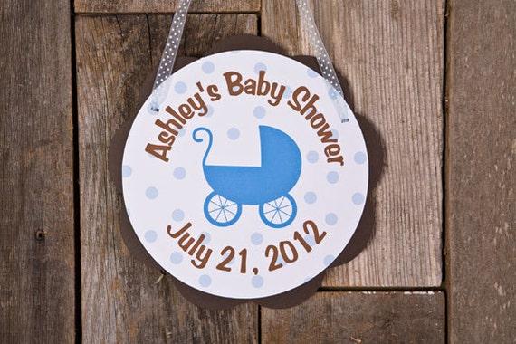 Items similar to baby shower door hanger carriage theme for Baby boy door decoration