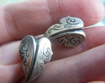 Sterling Silver earrings Screw Back Leaves VINTAGE by Plantdreaming
