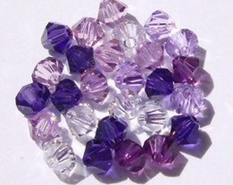 Swarovski crystal beads - 5 Different colors -- Swarovski BICONE 5328 crystal beads  MIX 26 -- Available in 4mm, 6mm