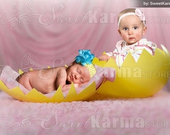 Paint Easter Eggs Child Digital Photography Background PSD File ...