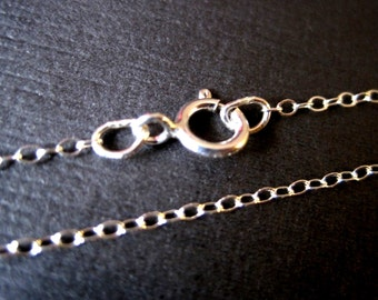 Finished Sterling Silver Cable Chain 20 Inches  - READY TO WEAR
