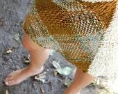 Beige cream tones tartan skirt