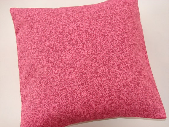 Decorative Pillow Cover in Fuschia Pink, 18 X 18 Pillow Cover, Pink PIllow Cover, Bedroom Pillow Sham Cover, Raspberry Pink