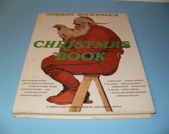 Vintage 1977 Norman Rockwells Christmas Book -Lots of Paintings Art Realism Collectible