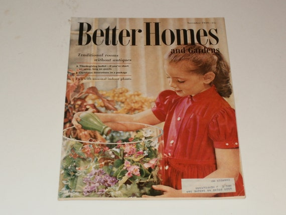 Vintage Better Homes And Gardens Magazine November By