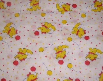 Baby Fabric Yellow Elephant  with Diaper, Balloon and Bow