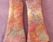 Arm Warmers Fingerless Gloves Pure Merino Wool Hand Felted Woolly Winter Warmers for Arms and Hands