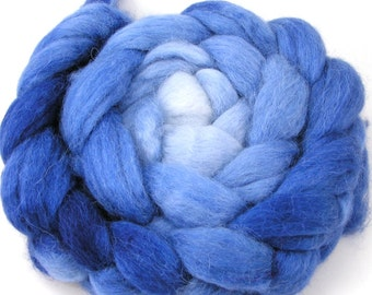 Baby Alpaca Combed Top - Spinning Fiber - Gradient - Shades of Midnight Blue