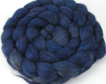 Spinning Fiber - Alpaca & Silk Combed Top / Roving - Midnight