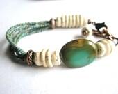 Gemstone Bracelet, Turquoise and Copper Bracelet