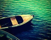 Monterey Boats Photograph - ocean sea water brown blue green square art print home decor gift photo photography