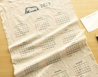 2013 Calendar on Linen Blended, U1922